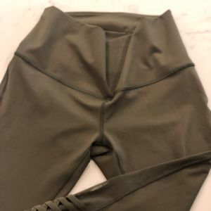 Army green yoga pants